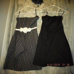 2 black and white dinner dresses